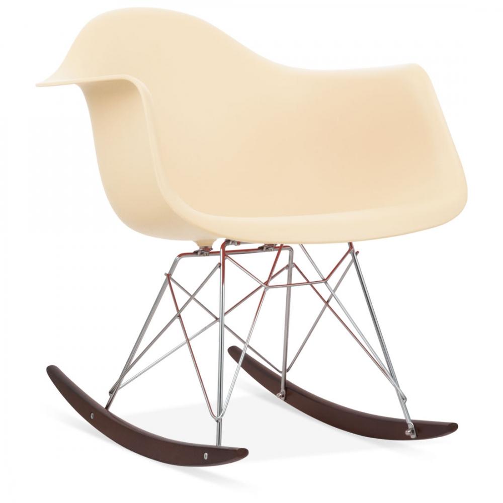 Rar rocking chairs eames style rar rocking arm chair grey - Iconic Designs Cream Rar Style Rocker Chair
