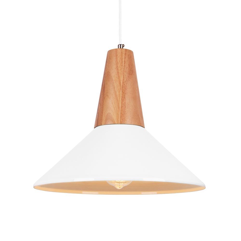 Clearance Pendant Lighting: White Stockholm Dish Metal Pendant Light