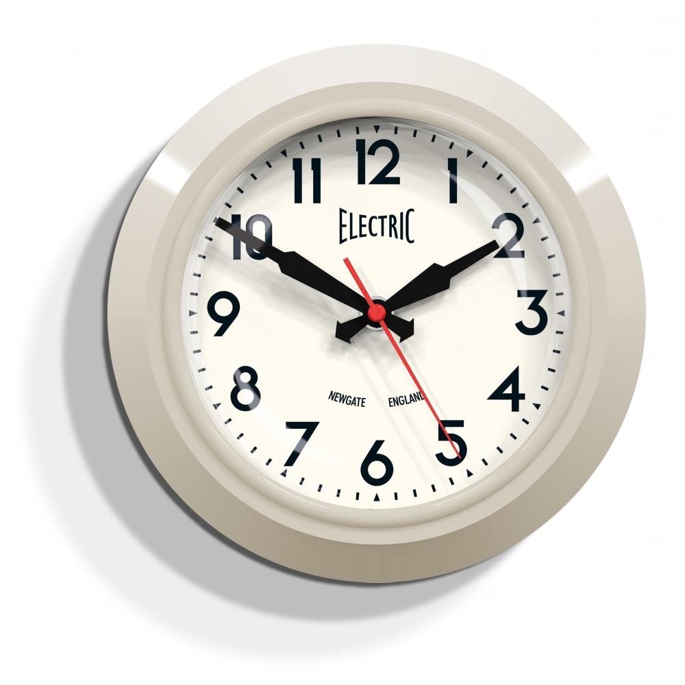 newgate clocks the small electric in cream cult. Black Bedroom Furniture Sets. Home Design Ideas