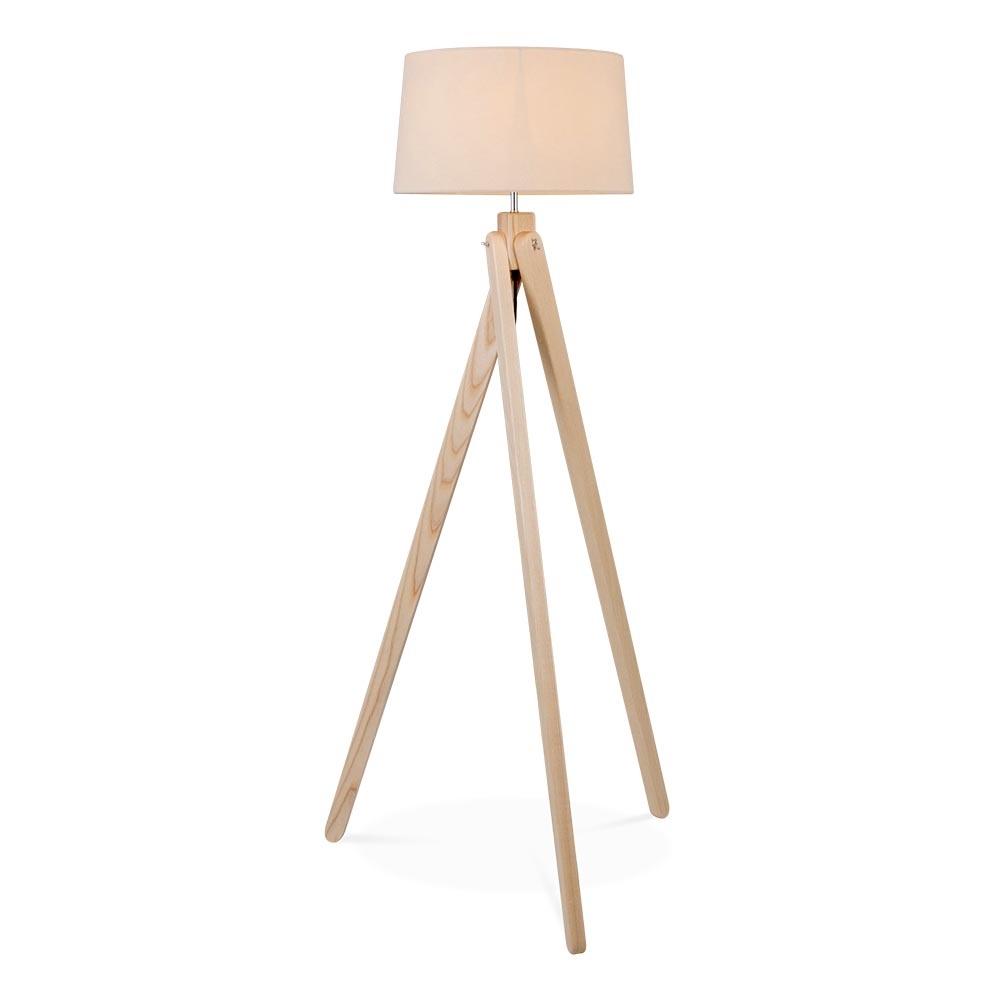 cult living tripod floor lamp in natural wood cult furniture uk. Black Bedroom Furniture Sets. Home Design Ideas