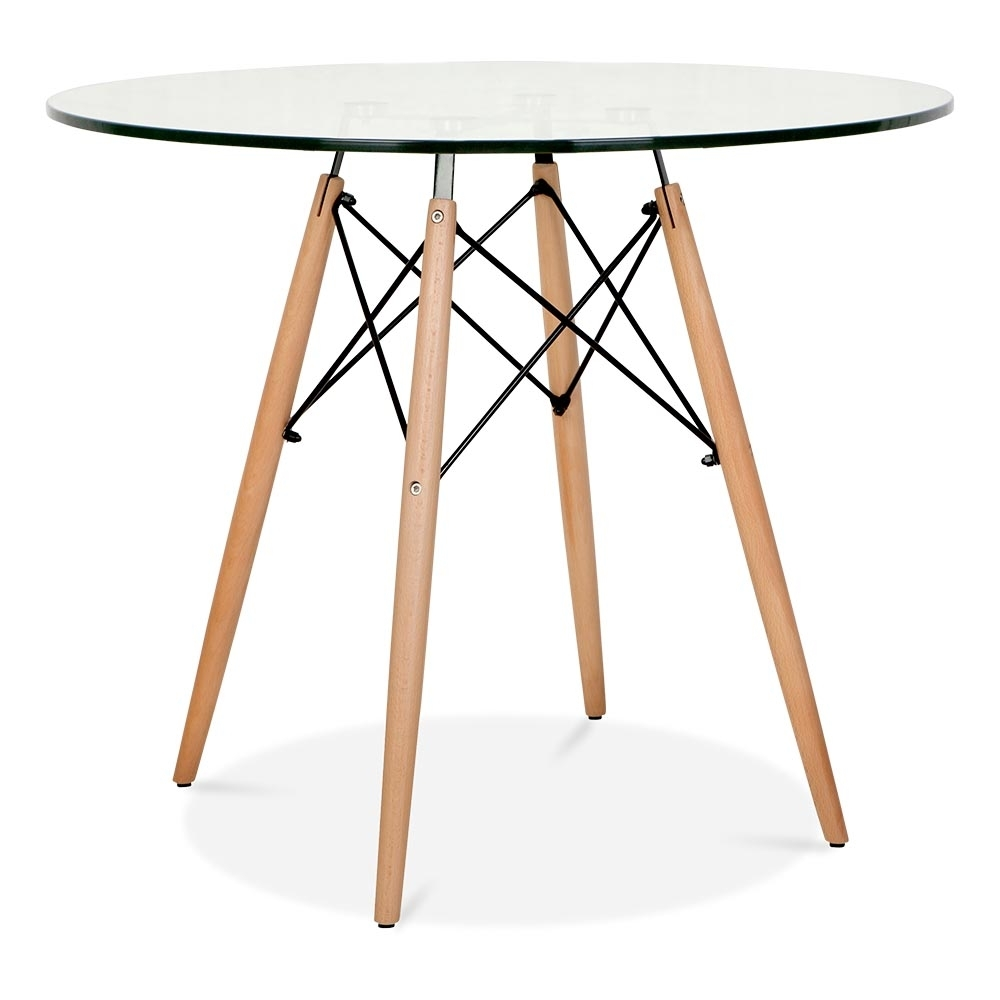 eames style glass dsw round table90cm dining tables cult furniture. Black Bedroom Furniture Sets. Home Design Ideas