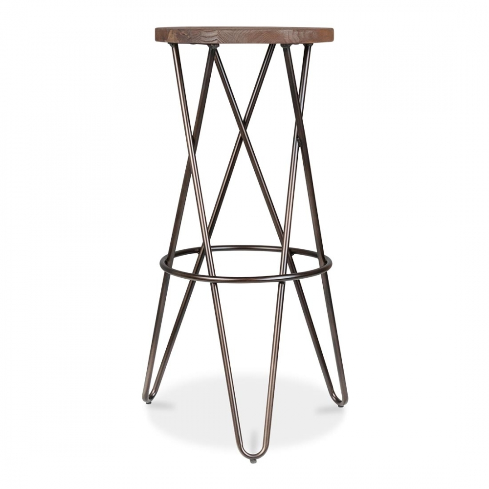 Cult Living Crossed Leg Raw Finish 75cm Hairpin Stool