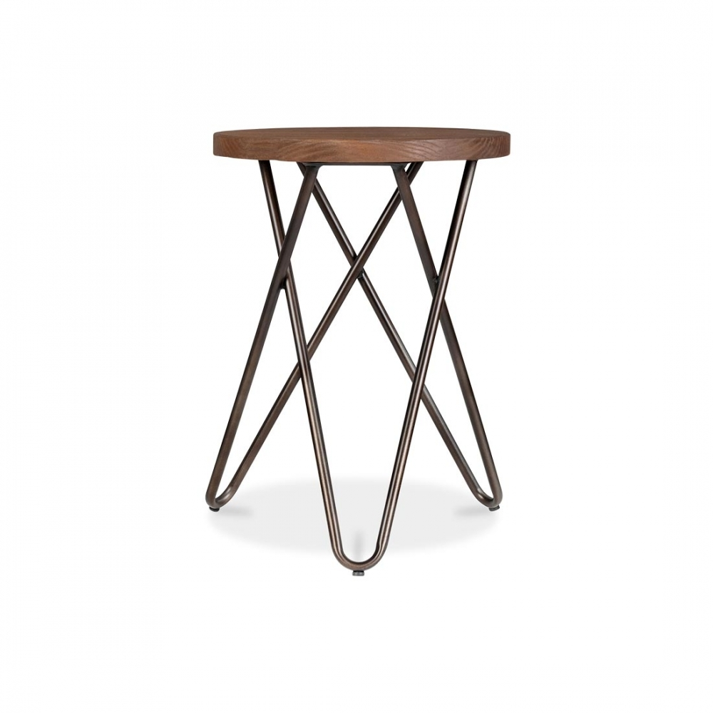Cult Living Crossed Leg Rustic Finish 45cm Hairpin Stool