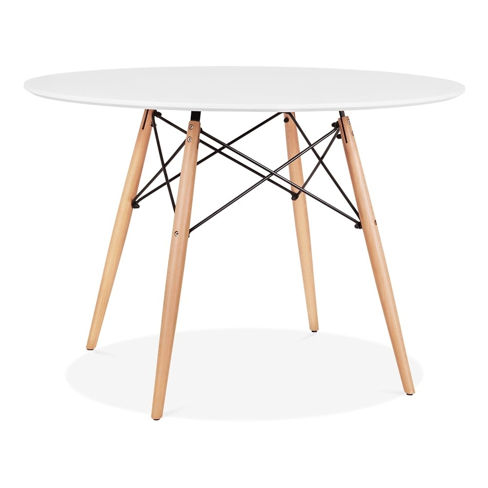eames style white dsw round table 110cm dining tables. Black Bedroom Furniture Sets. Home Design Ideas