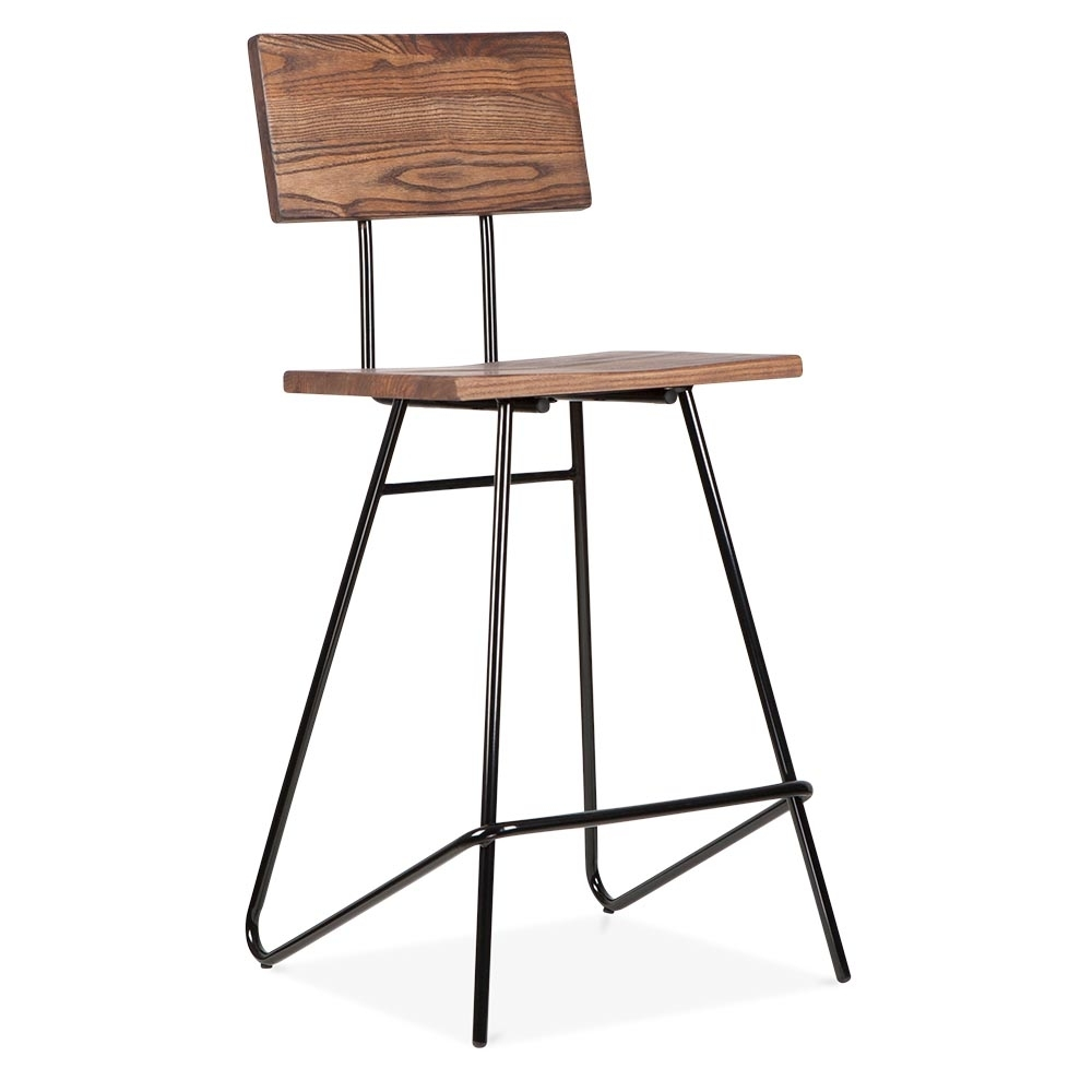 64cm transit stool in black with wood seat by cult living cult uk. Black Bedroom Furniture Sets. Home Design Ideas