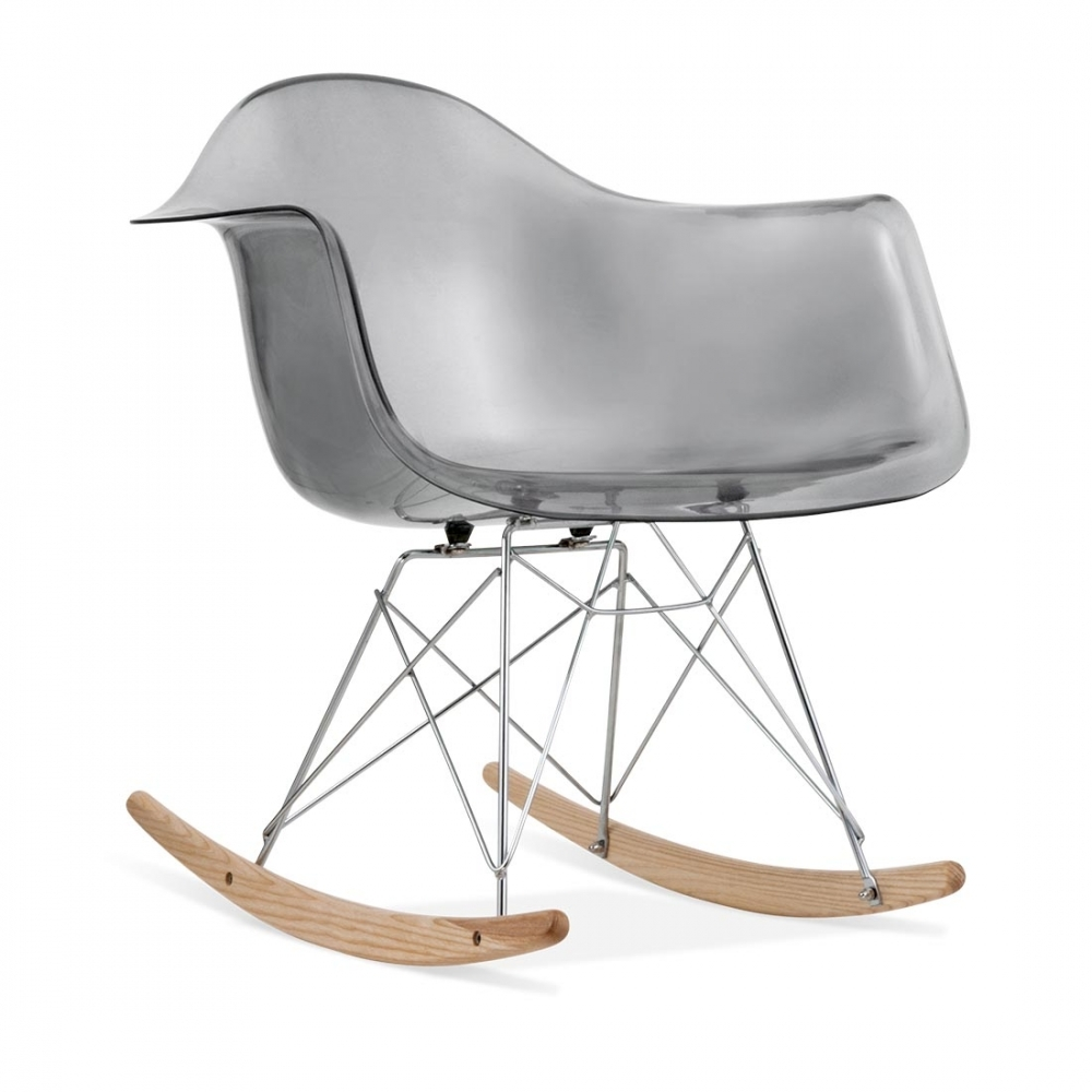 transparent black eames style rar rocker chair rocking chair cult uk. Black Bedroom Furniture Sets. Home Design Ideas