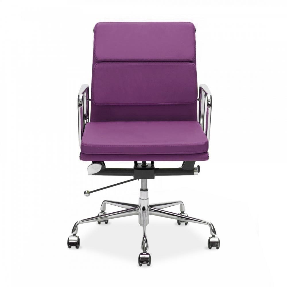 office chair eames. eames inspired purple short back soft pad executive office chair u2039