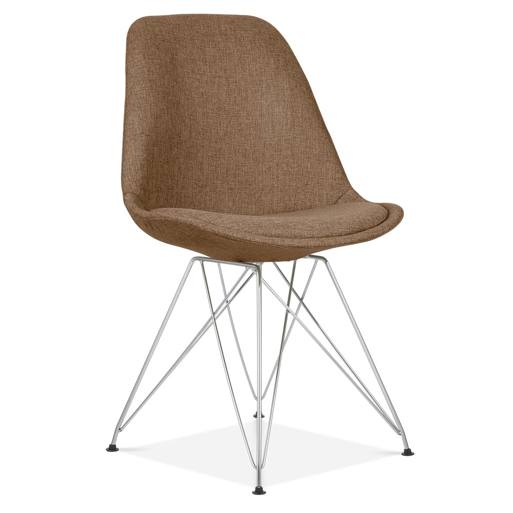 Eames inspired brown upholstered dining chair cult for Eames chair england