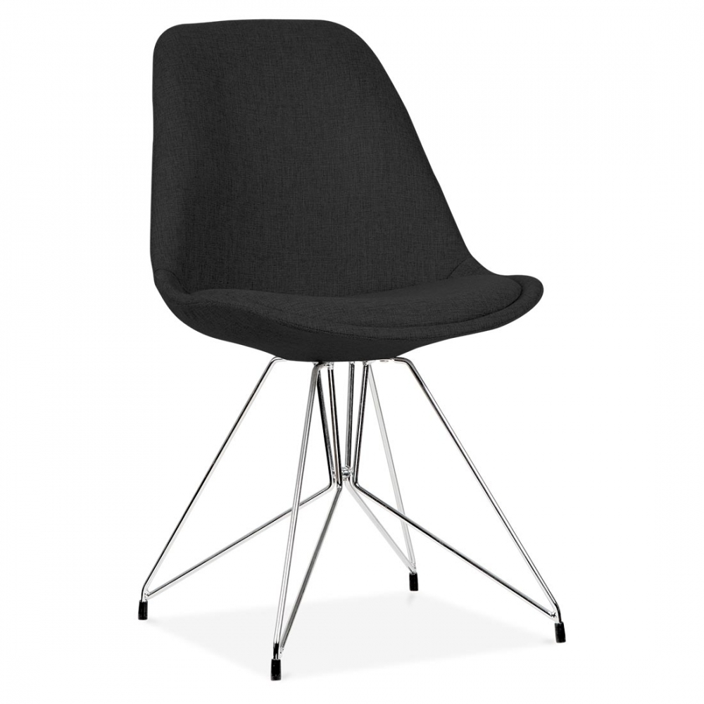 eames inspired black upholstered chair with geometric legs cult uk. Black Bedroom Furniture Sets. Home Design Ideas