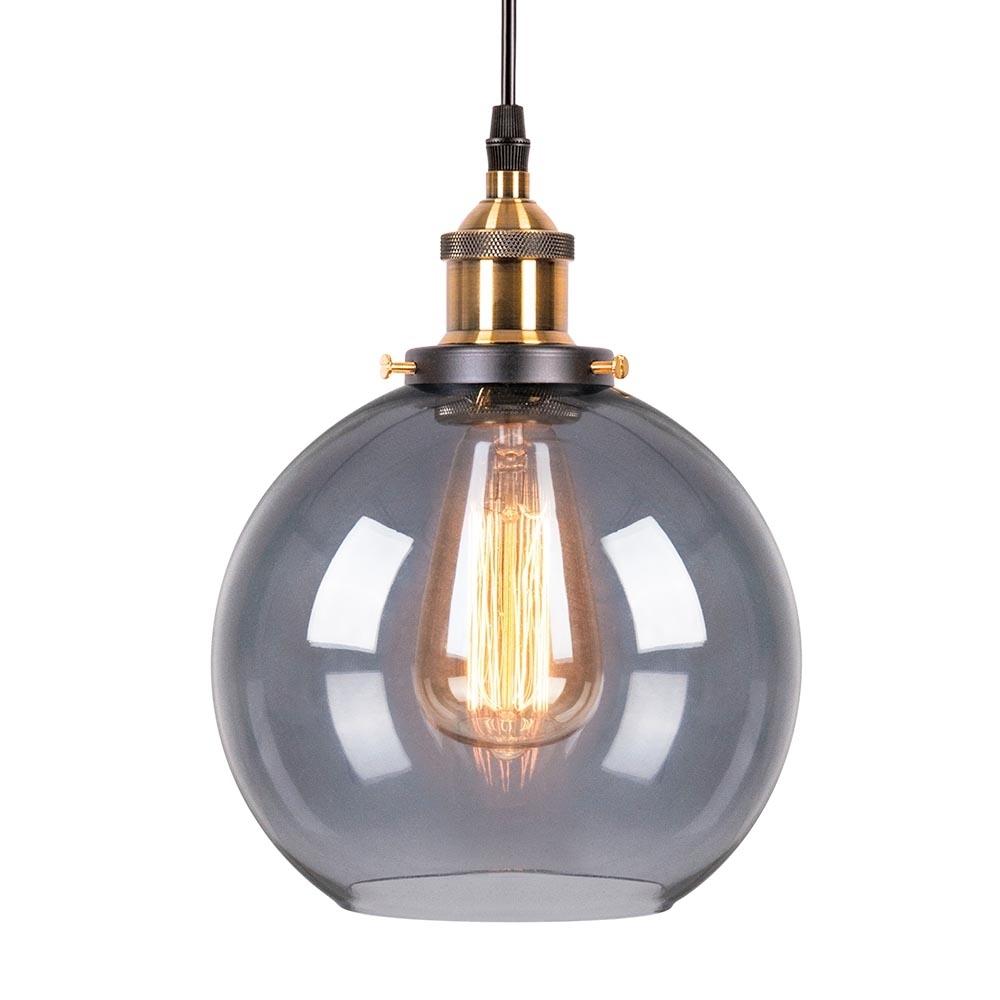 Black Glass Factory Sphere Pendant Light | Bar ...