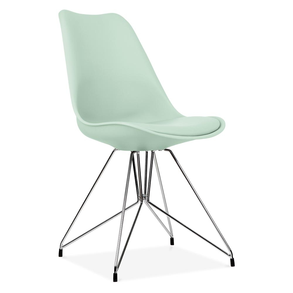 Eames Inspired Mint Dining Chair With Geometric Legs Cult Uk