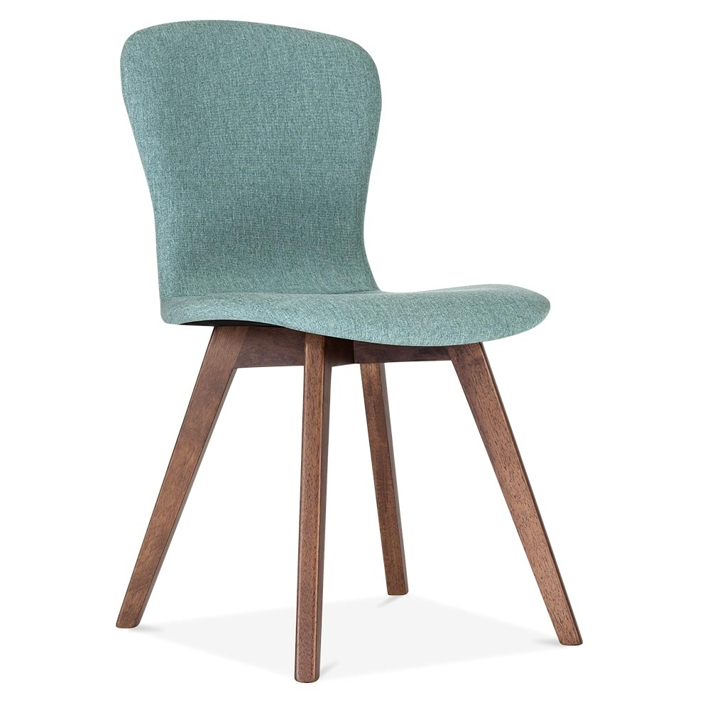 Cult living hudson upholstered dining chair soft teal for Furniture furniture
