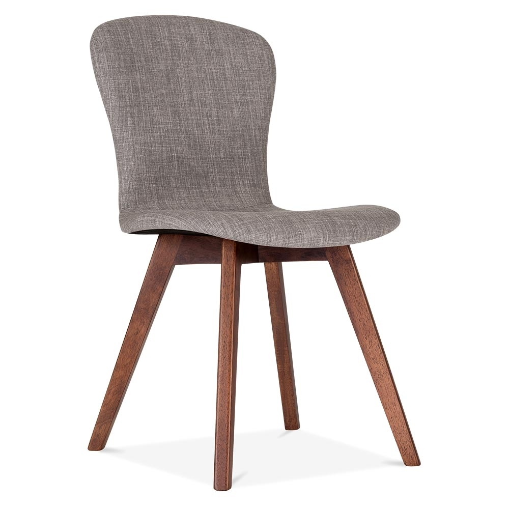 Cult living hudson upholstered dining chair in cool grey for Chair chair chair