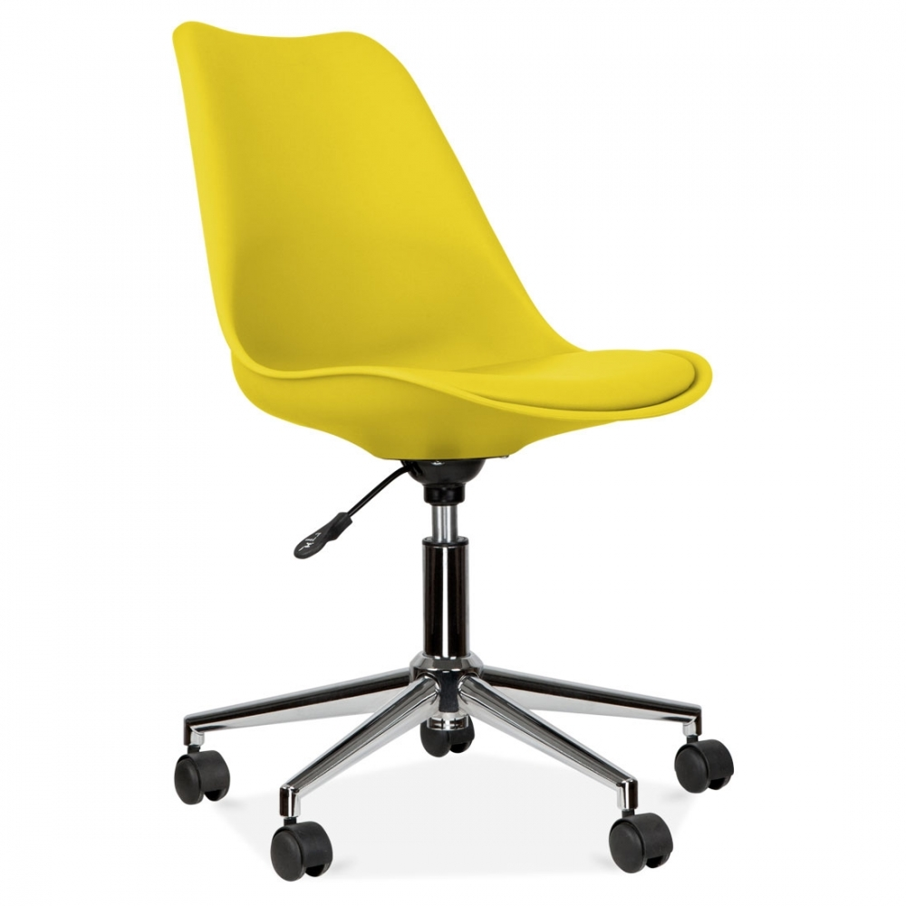 eames inspired yellow office chair with castors cult uk. Black Bedroom Furniture Sets. Home Design Ideas