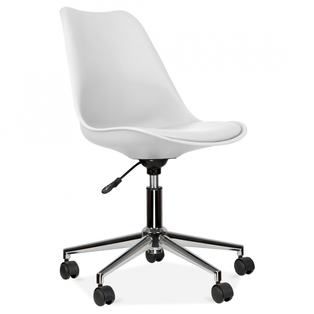 Eames inspired white office chair with castors cult uk for Eames chair england