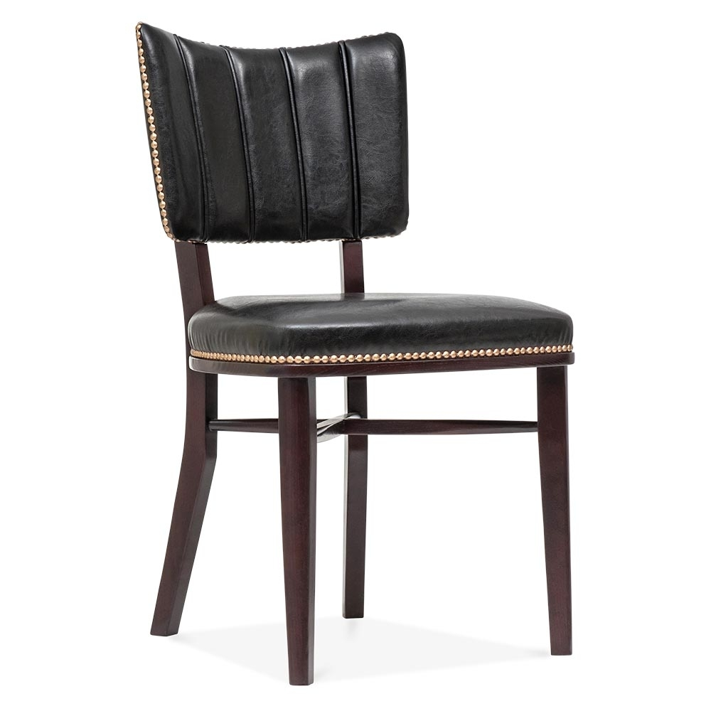 Cult living winston chair in black with gold studs cult furniture uk - Cult furniture ...