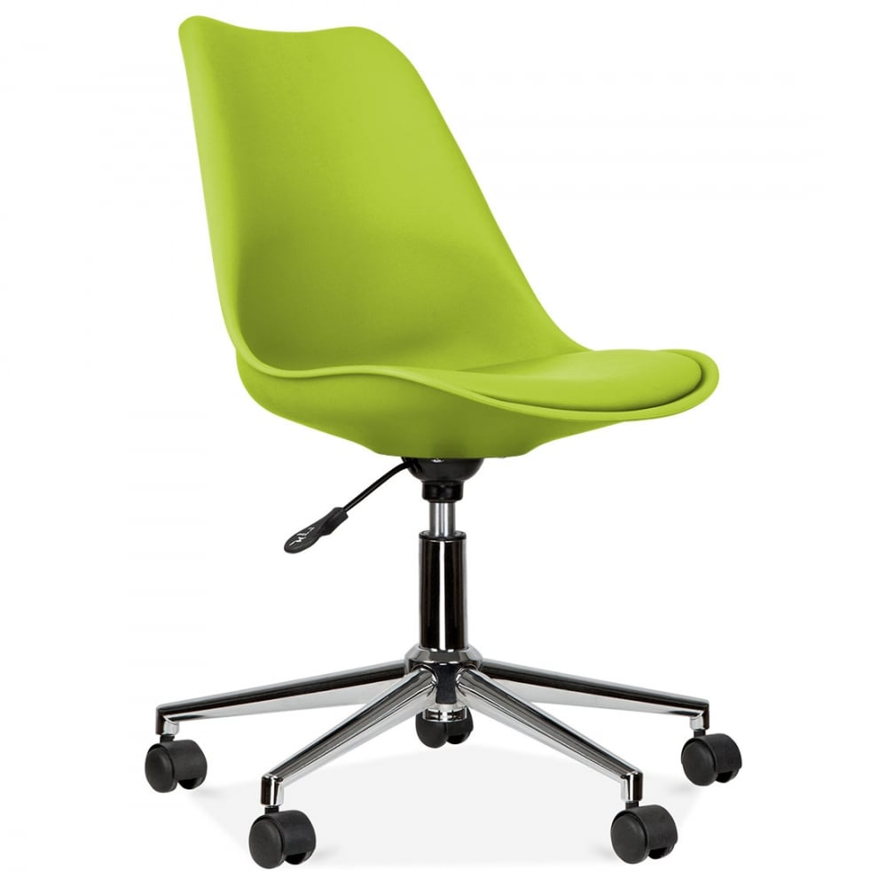 Eames Inspired Apple Green Office Chair With Castors Cult Uk