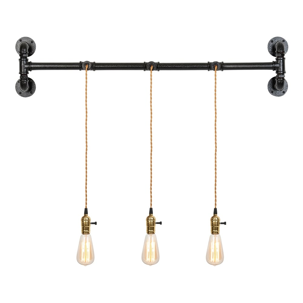 Industrial Pipe Wall Light: Cult Living Lowell Industrial Pipe Wall Light