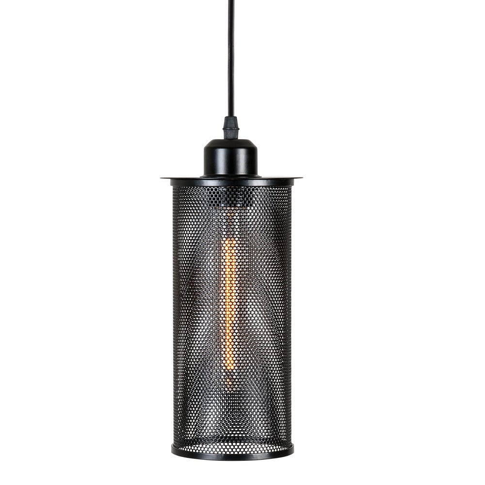 Black Perforated Metal Hanging Light Bar Amp Restaurant Lights