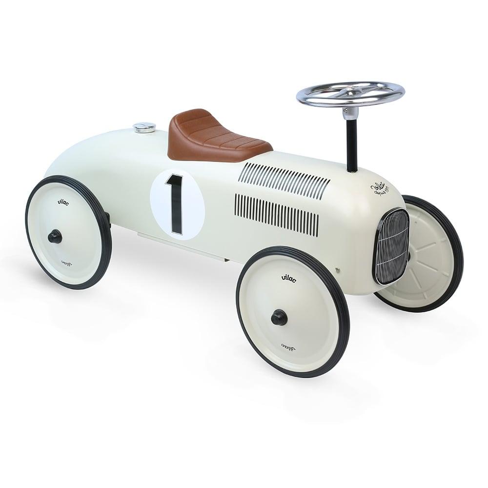 vilac ride on metal racing car in white cult furniture uk