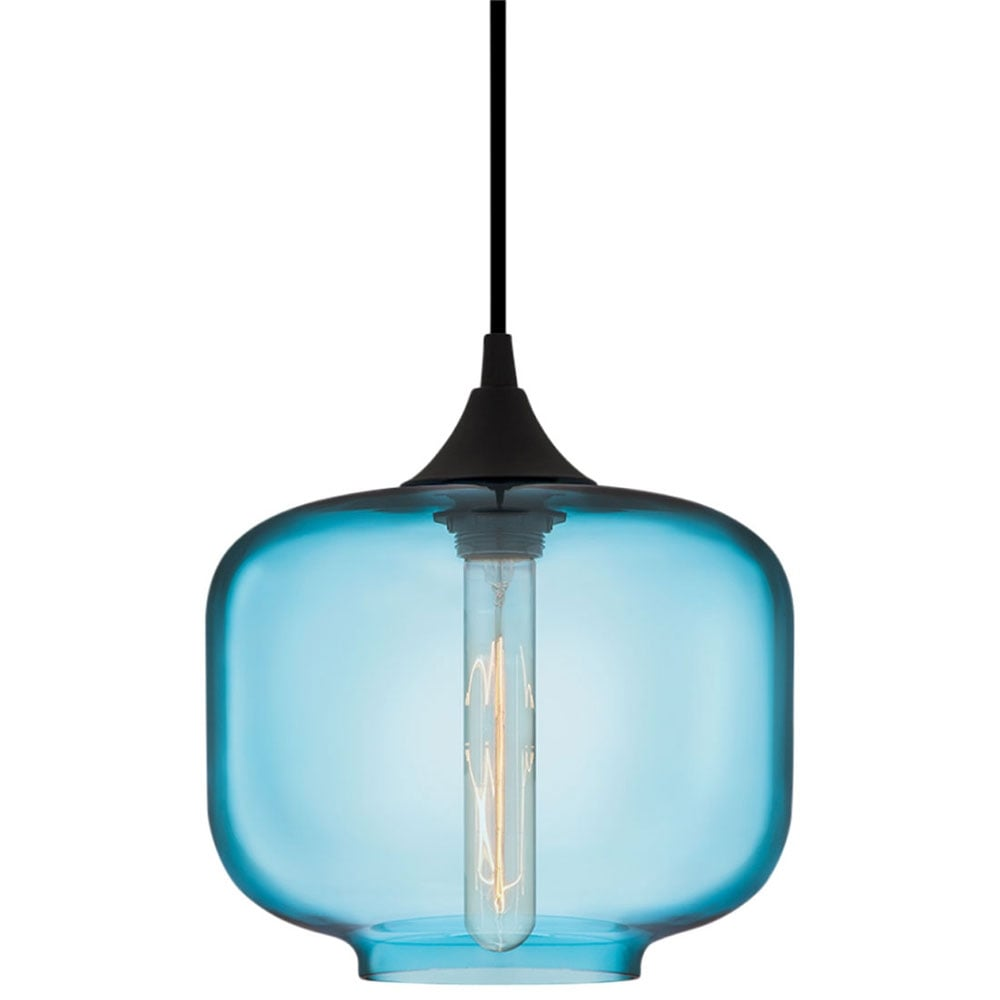 smokey blue edison industrial oculo modern pendant light  cult uk - edison industrial oculo modern pendant light  bright blue