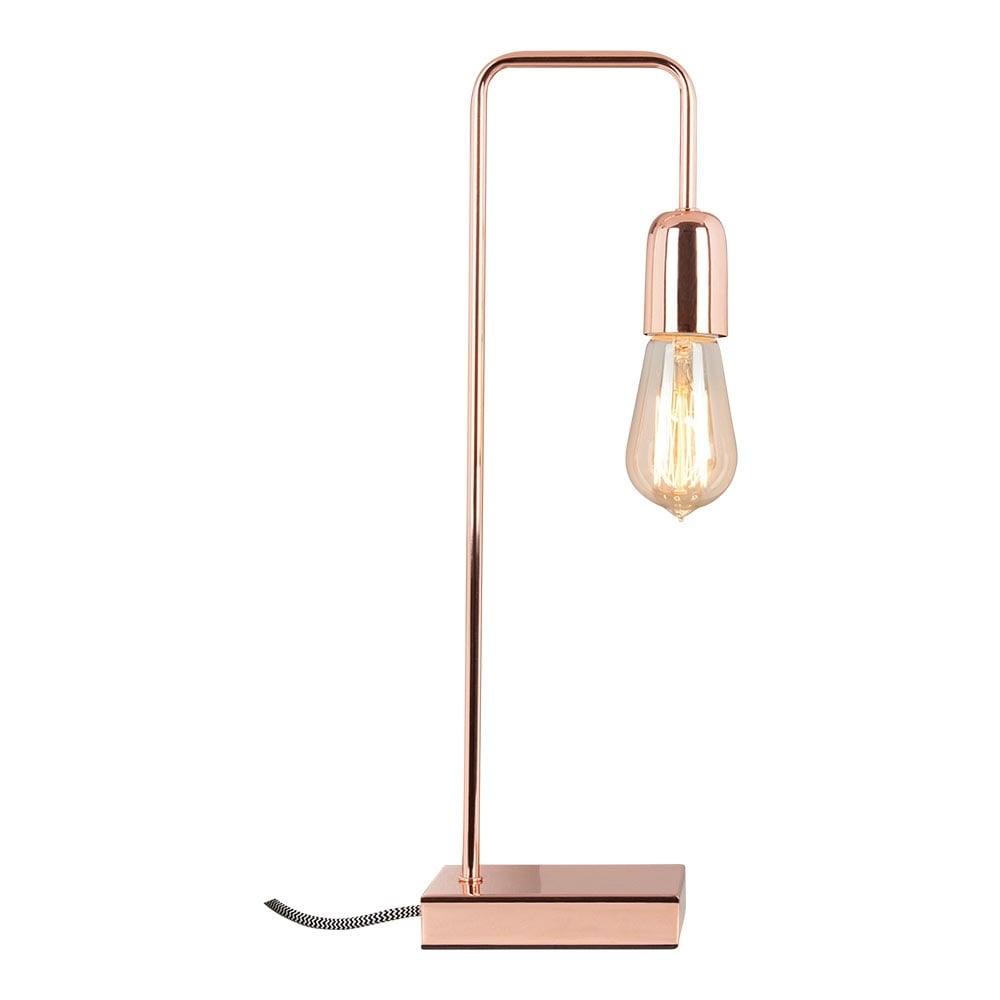 cult living elegance metal table lamp in copper cult uk. Black Bedroom Furniture Sets. Home Design Ideas