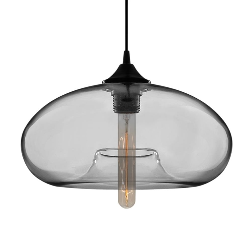 edison industrial aurora modern pendant light in transparent black cult uk. Black Bedroom Furniture Sets. Home Design Ideas