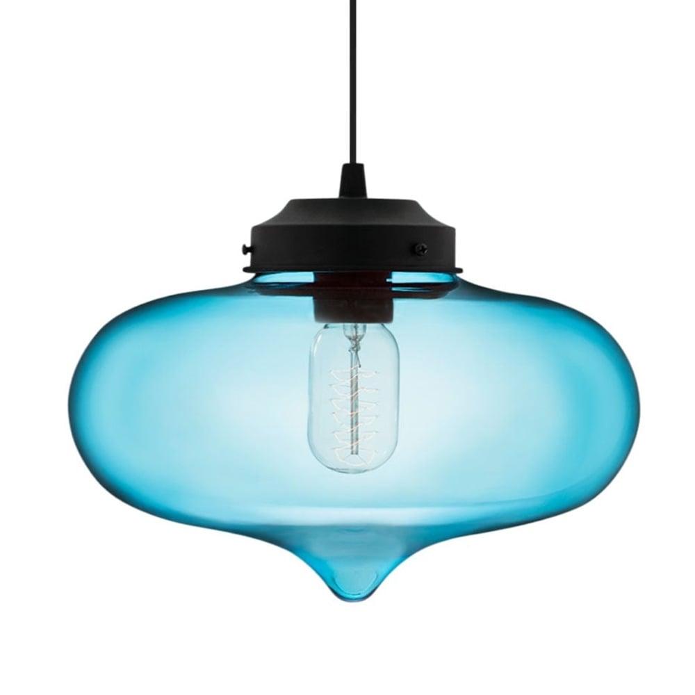 Blue Glass Minaret Pendant Light