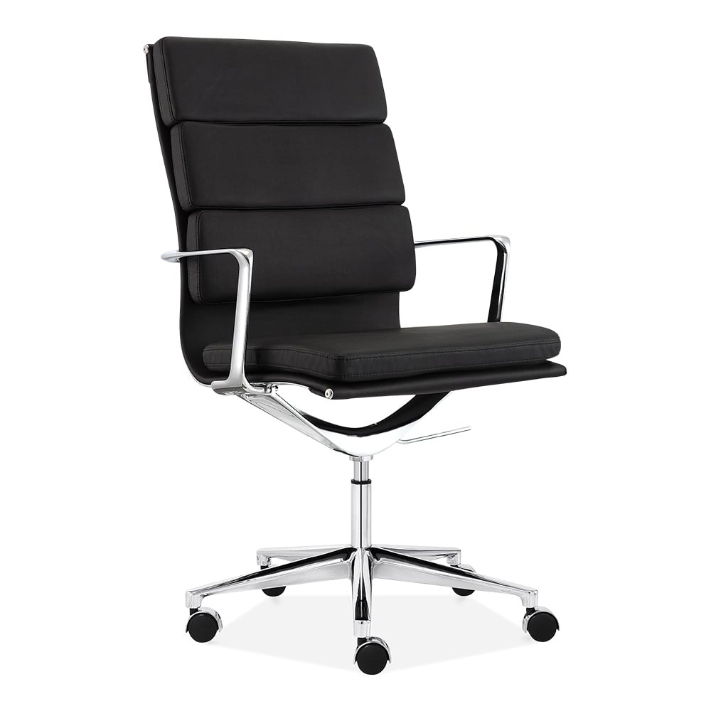 cult living black high back soft pad office chair cult uk. Black Bedroom Furniture Sets. Home Design Ideas