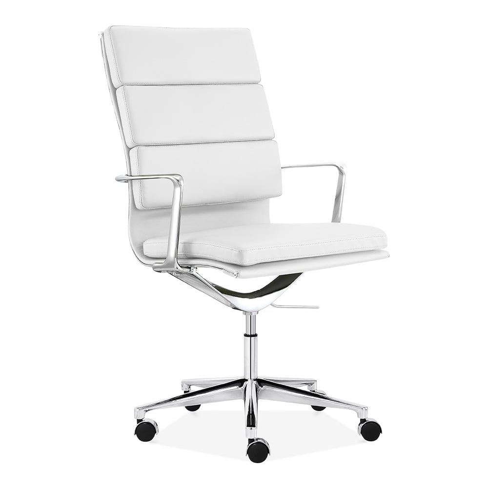 Cult Living White High Back Soft Pad Office Chair Cult Uk