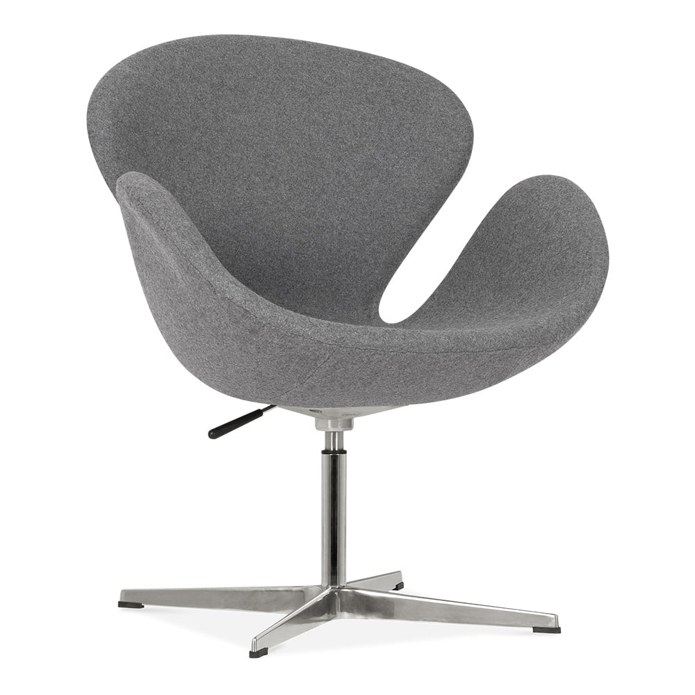 Cult living swan chair in grey cult furniture uk for Swan chair nachbau