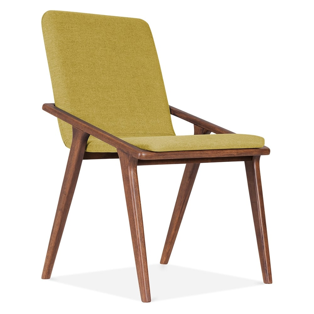 cult living flight upholstered dining chair in olive