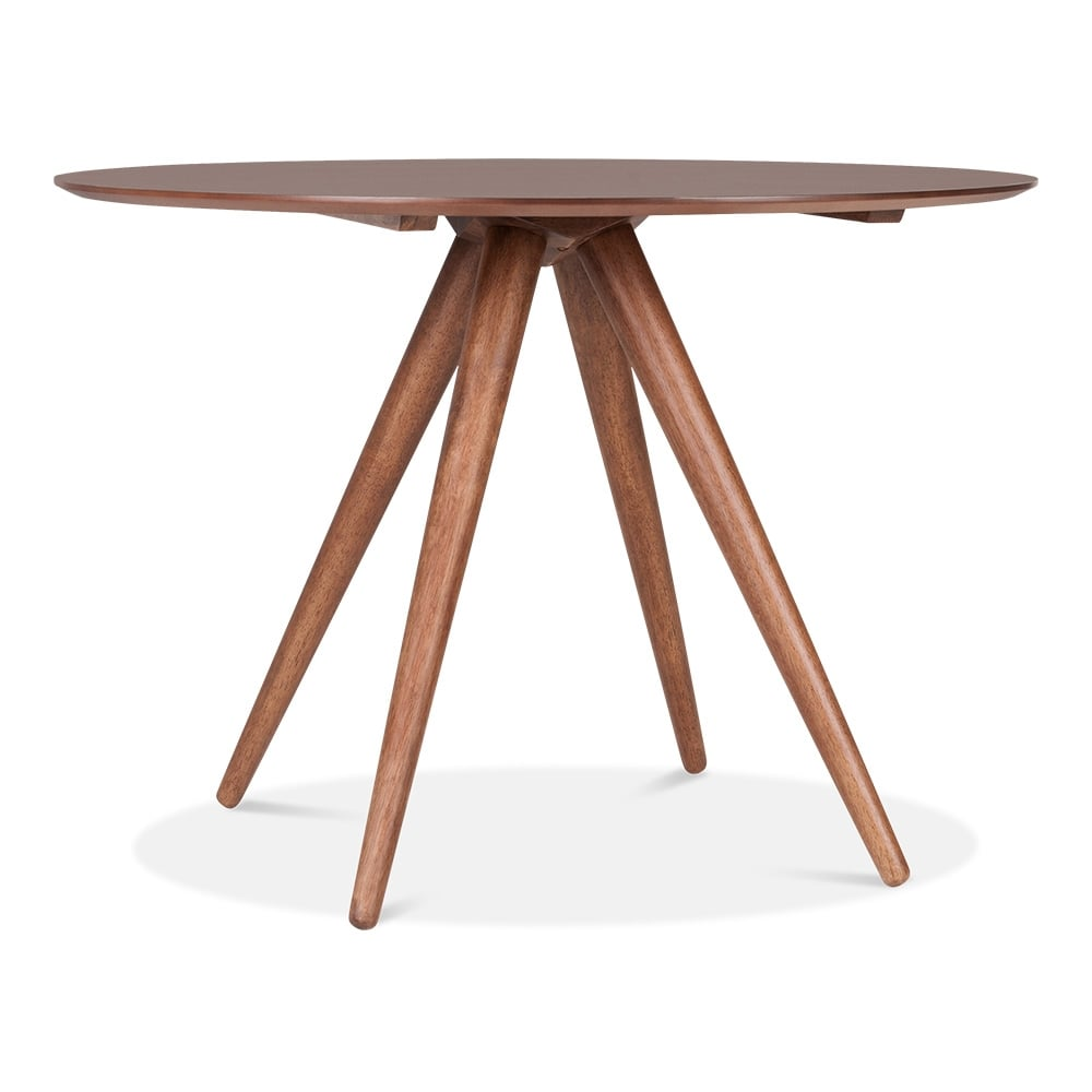 Walnut olsen round dining table in walnut wood 106cm cult furniture - Cult furniture ...