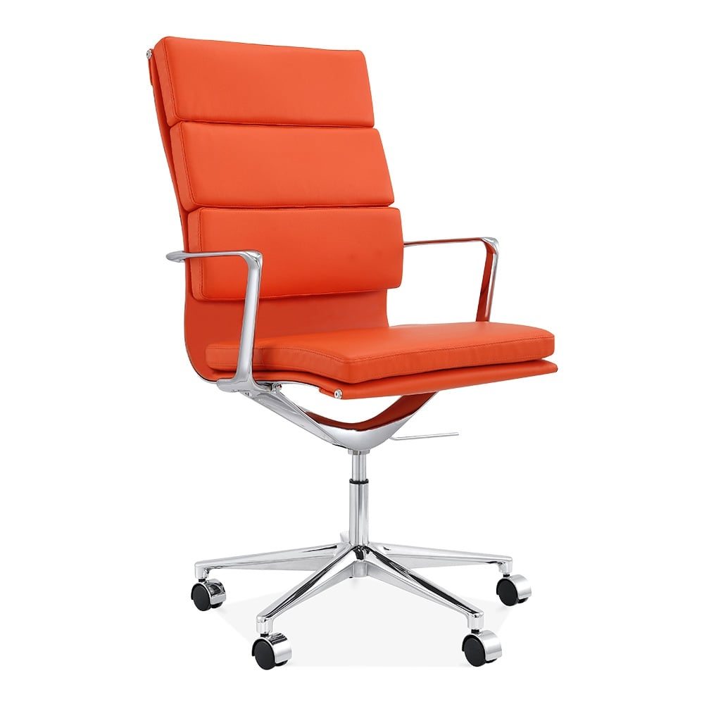 Office Chairs Clearance: Cult Living Orange High Back Soft Pad Office Chair