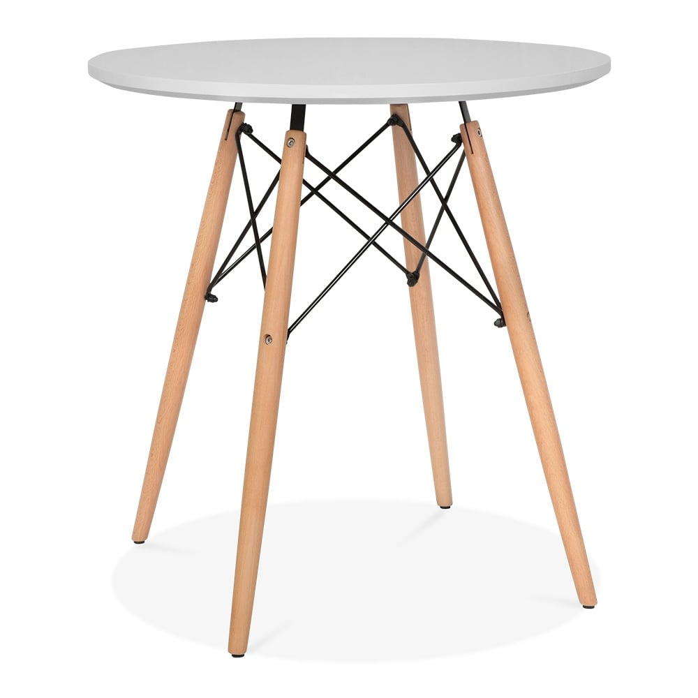 Iconic Designs Light Grey Dsw Style Dining Round Table Diameter 70cm