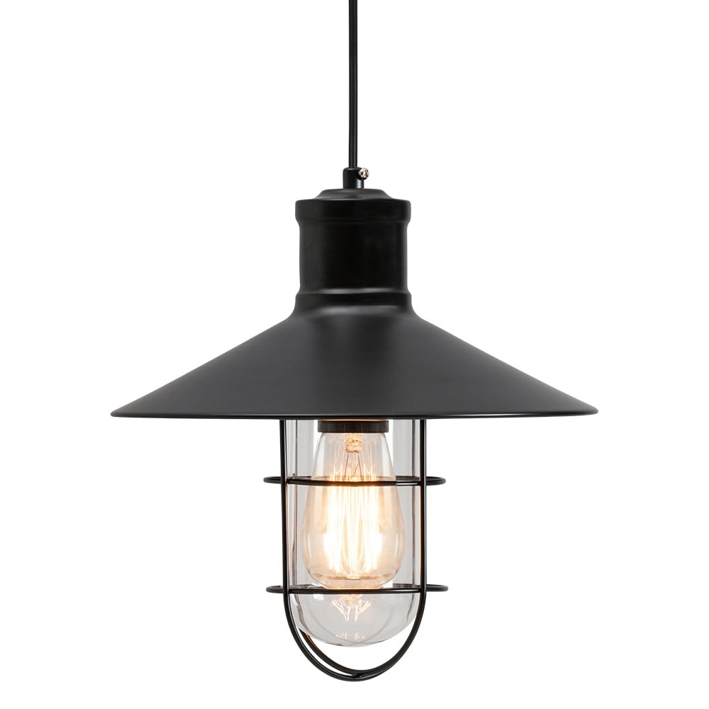 caged lighting. edison harbour caged pendant light black lighting a