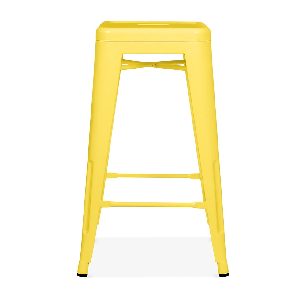 yellow powder coated 65cm tolix style stool cult furniture. Black Bedroom Furniture Sets. Home Design Ideas