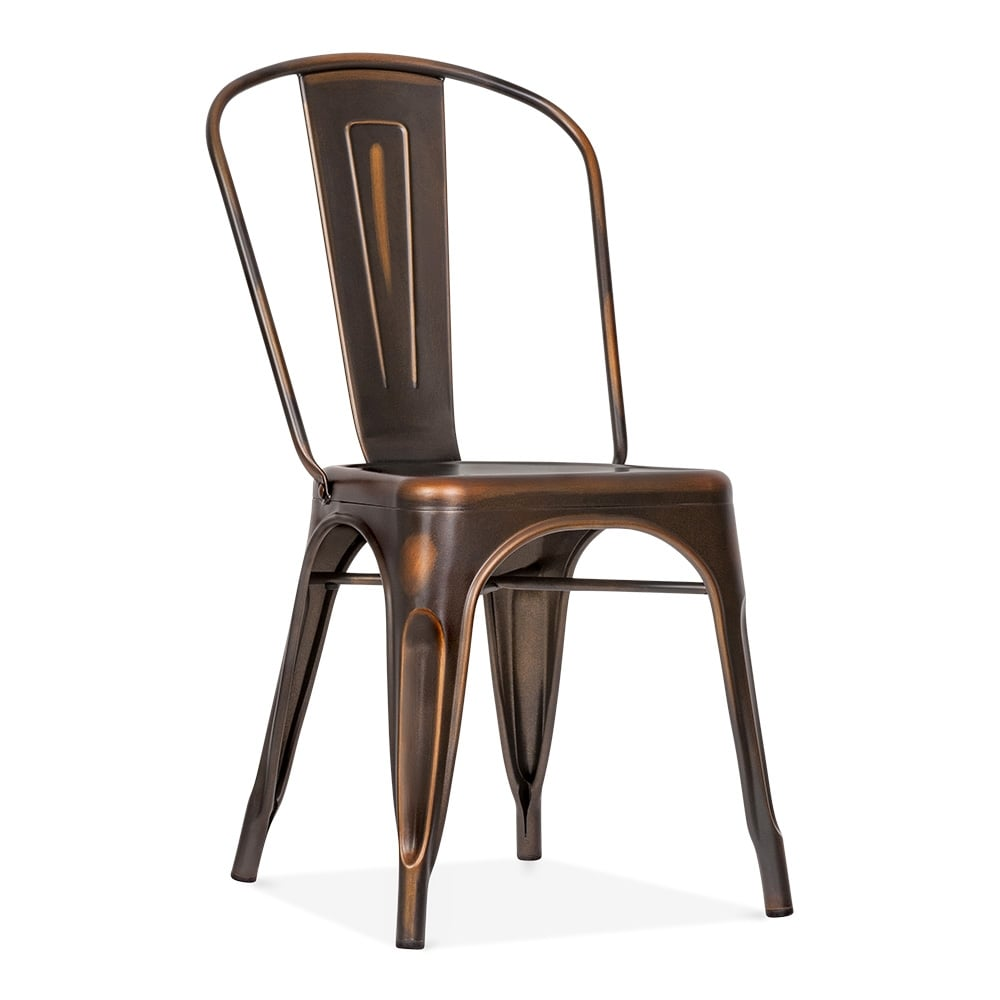 xavier pauchard style distressed copper side chair cult uk. Black Bedroom Furniture Sets. Home Design Ideas