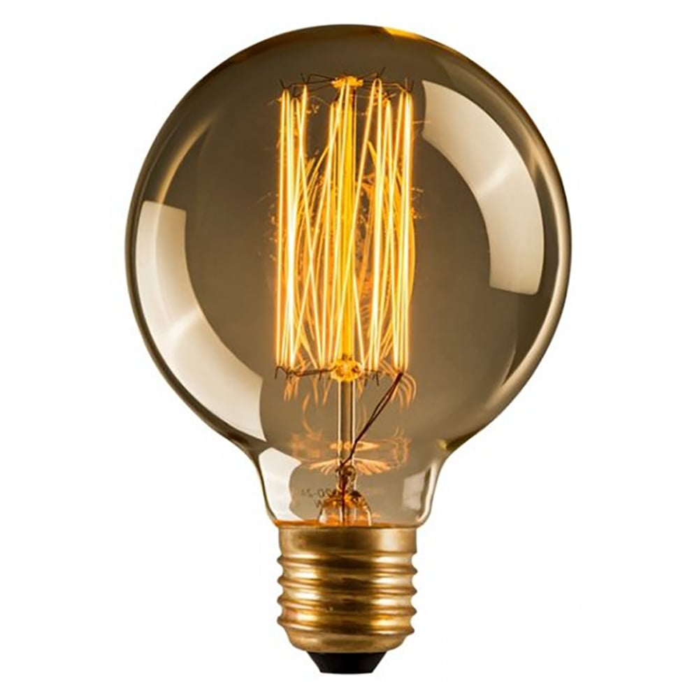 edison large round globe filament g125 bulb e27 40w cult uk. Black Bedroom Furniture Sets. Home Design Ideas