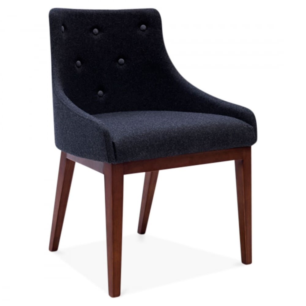 Dining Chairs Clearance: Cult Living Trinity Dark Grey Upholstered Dining Chair