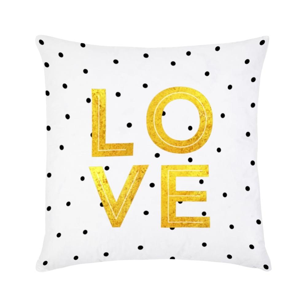 cult design love cushion in gold cult furniture. Black Bedroom Furniture Sets. Home Design Ideas