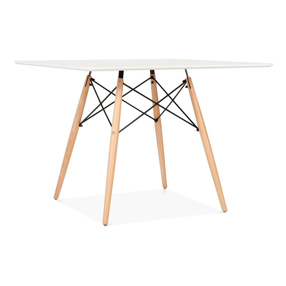 white eames dsw style 100cm square table dining tables cult uk. Black Bedroom Furniture Sets. Home Design Ideas