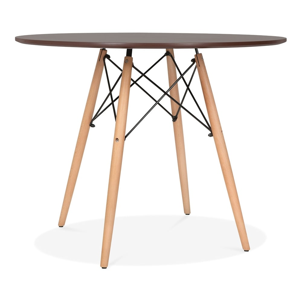 walnut eames dsw style 90cm walnut round table dining tables cult uk. Black Bedroom Furniture Sets. Home Design Ideas