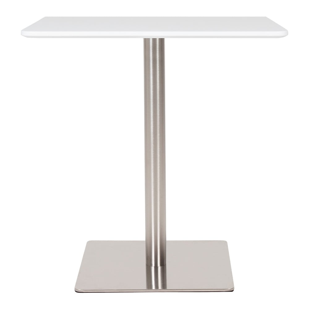 Cult Living Fairway White Table With Stainless Steel Base