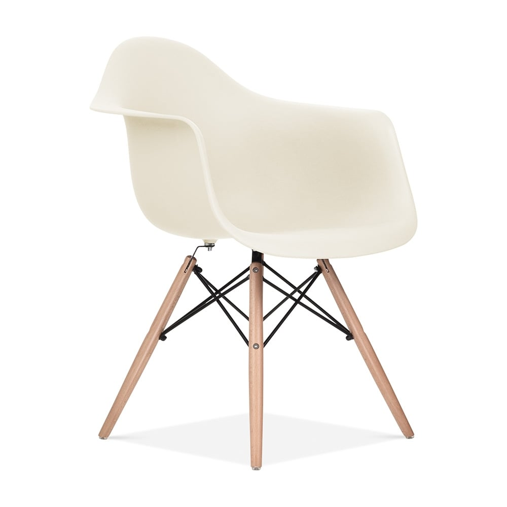 Attractive Iconic Designs Off White DAW Style Chair. U2039