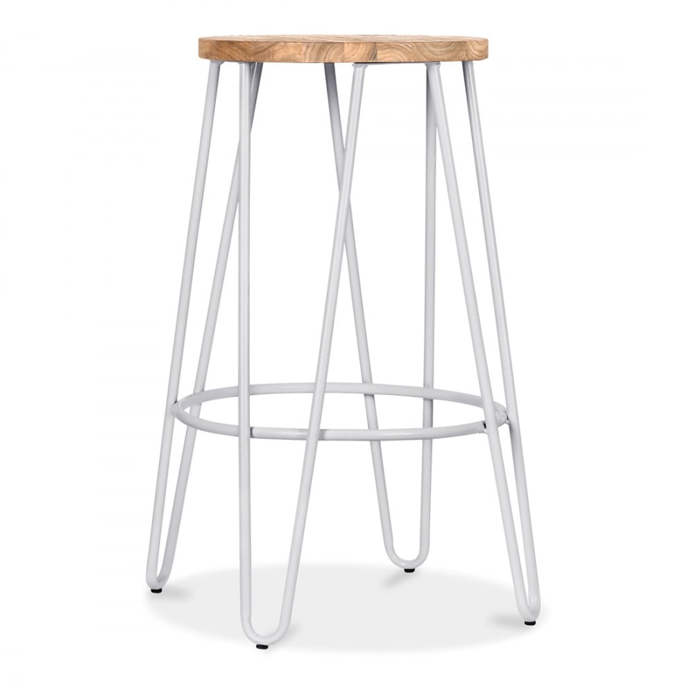 Hairpin 66cm Light Grey Stool With Seat Option Cult
