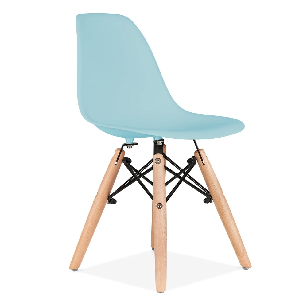 Eames inspired dsw kids light blue chair cult furniture uk for Reproduction chaise dsw