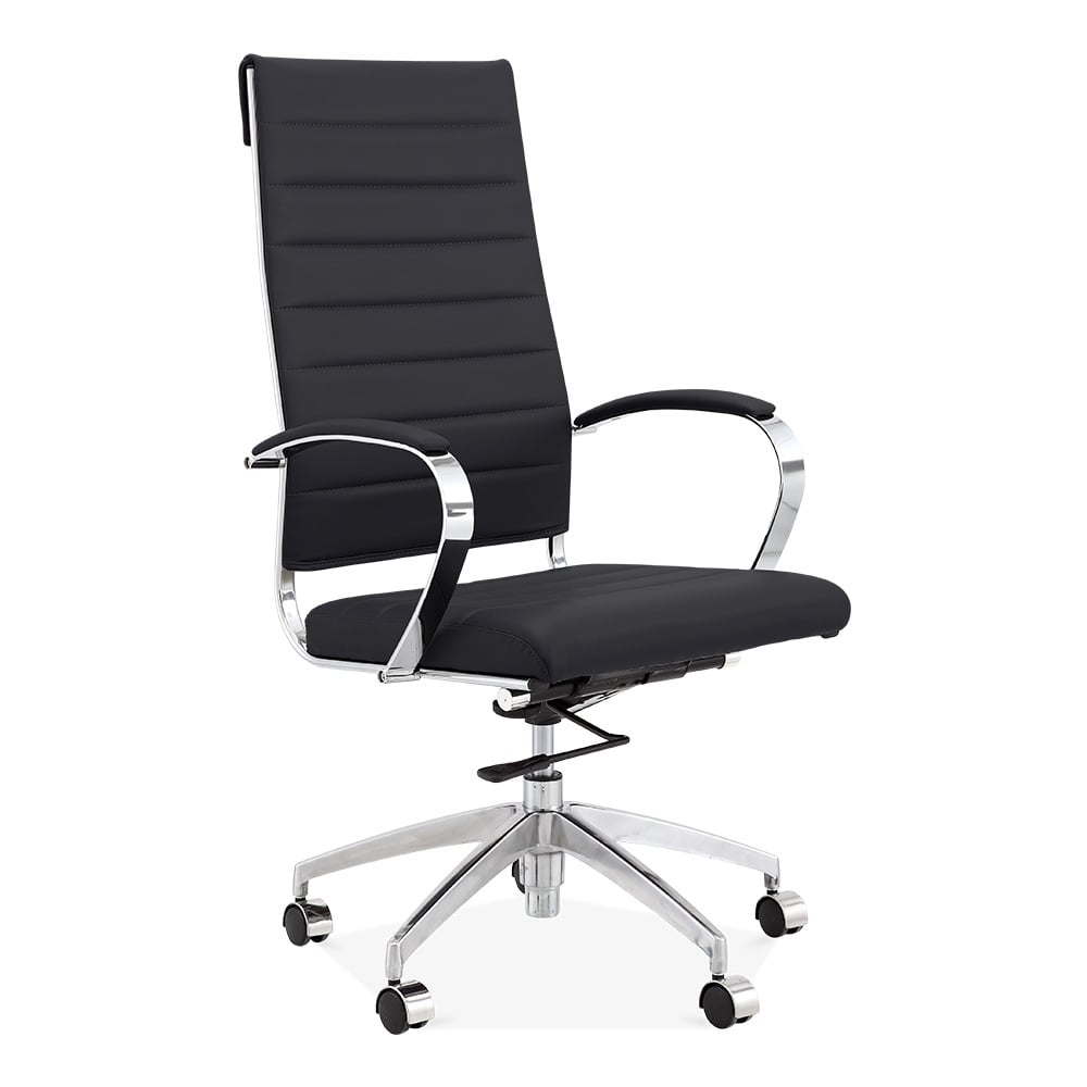 modern executive office chairs. Deluxe High Back Office Chair - Black Modern Executive Chairs