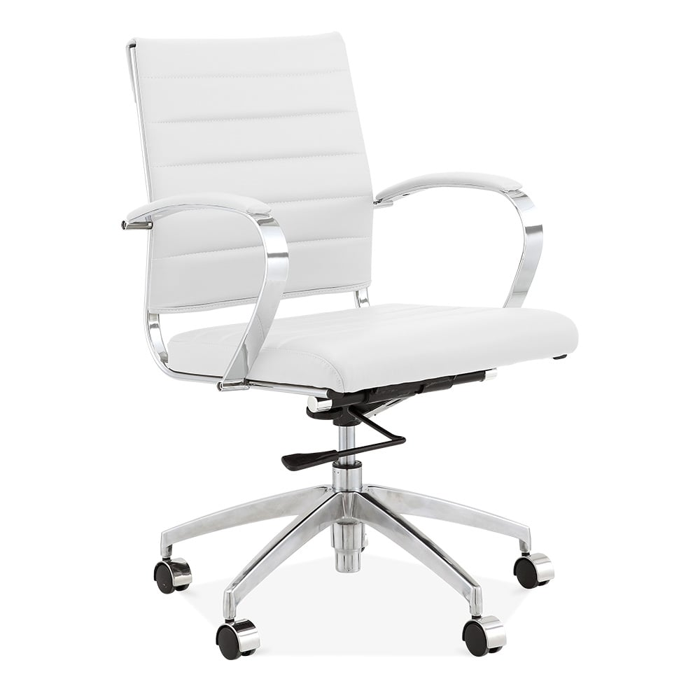 Cult Living Deluxe Office Chair With Short Backrest   White
