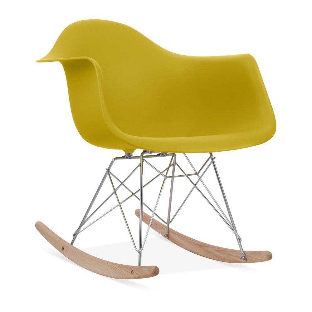 Rar rocking chairs eames style rar rocking arm chair grey - Iconic Designs Olive Rar Style Rocker Chair